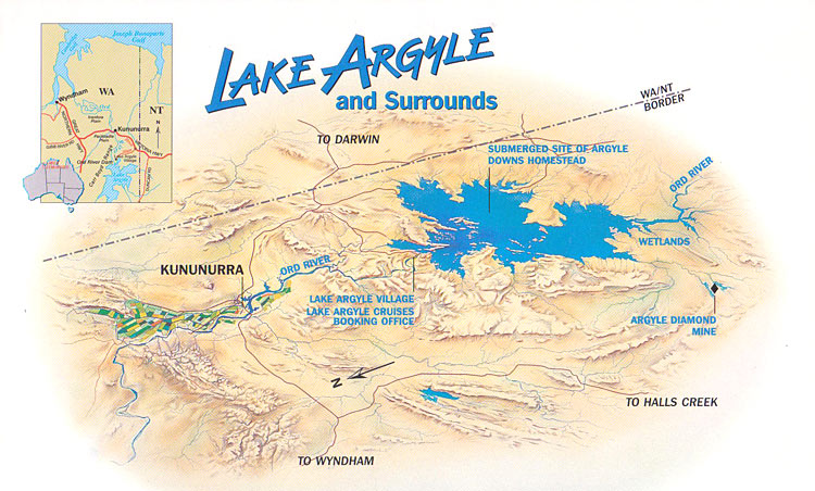 Lake Argyle and Surrounds Map