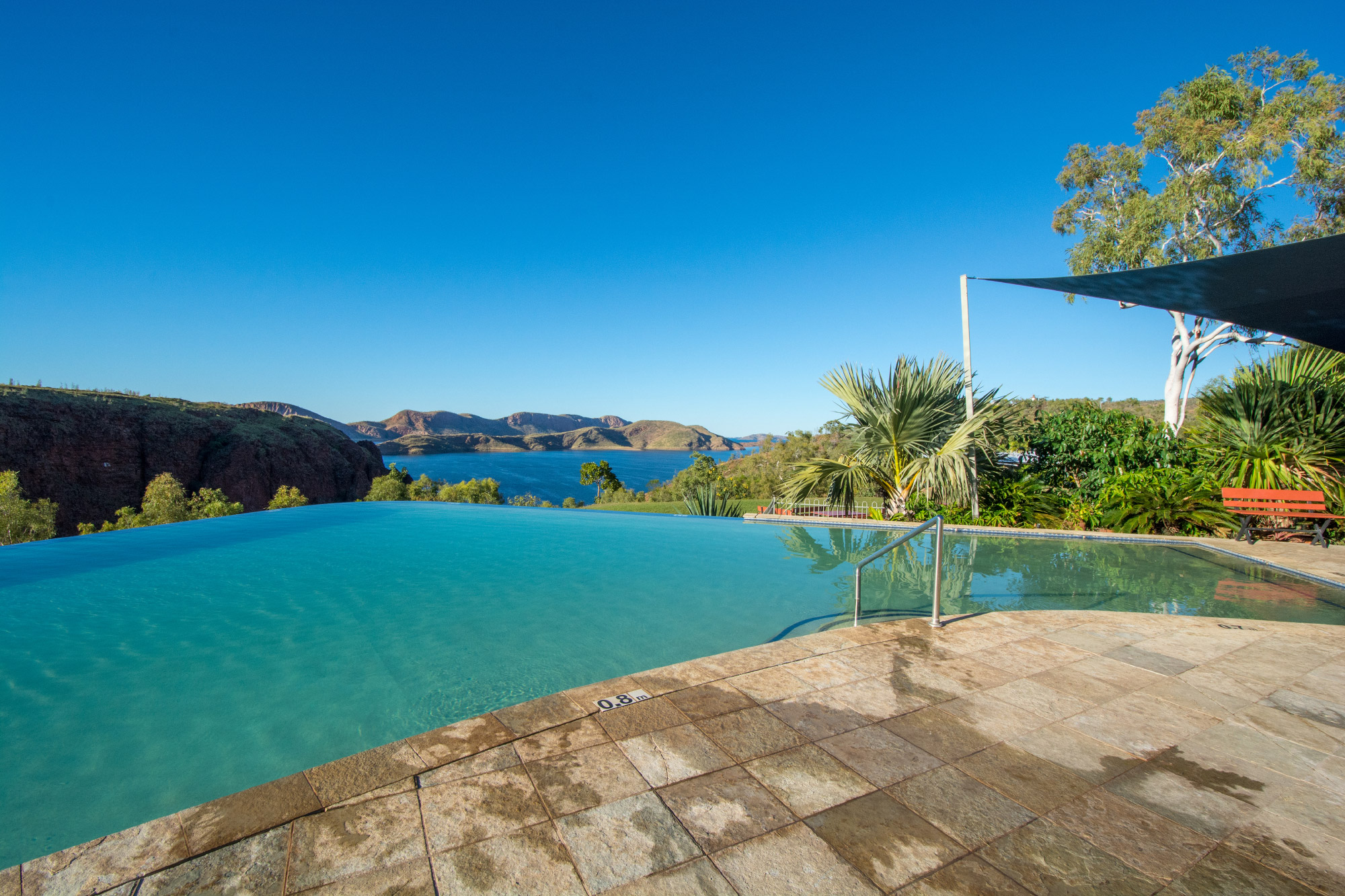 infinity pool at lake argyle - the kimberley's caravan park